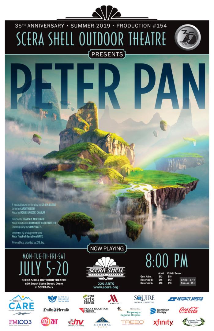 Peter Pan | SCERA Shell Outdoor Theatre | Musical | Orem, Utah